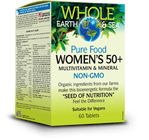 Whole Earth & Sea Women's 50+ Multivitamin & Mineral 60 Tablets By Natural Factors