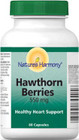 Nature's Harmony Hawthorn Berries 550 mg  60 Capsules
