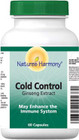 Nature's Harmony Cold Control Ginseng extract 60 Capsules