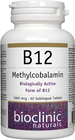 Bioclinic Naturals B12 Methylcobalamin 5000 mcg 60 Sublingual Tablets