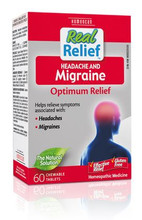 Homeocan Real Relief Headache & Migraine 60 Tablets