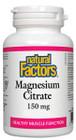 Natural Factors Magnesium Citrate 210 Capsules