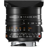 Leica Summilux-M 28mm F1.4 ASPH. Black Lens (New)
