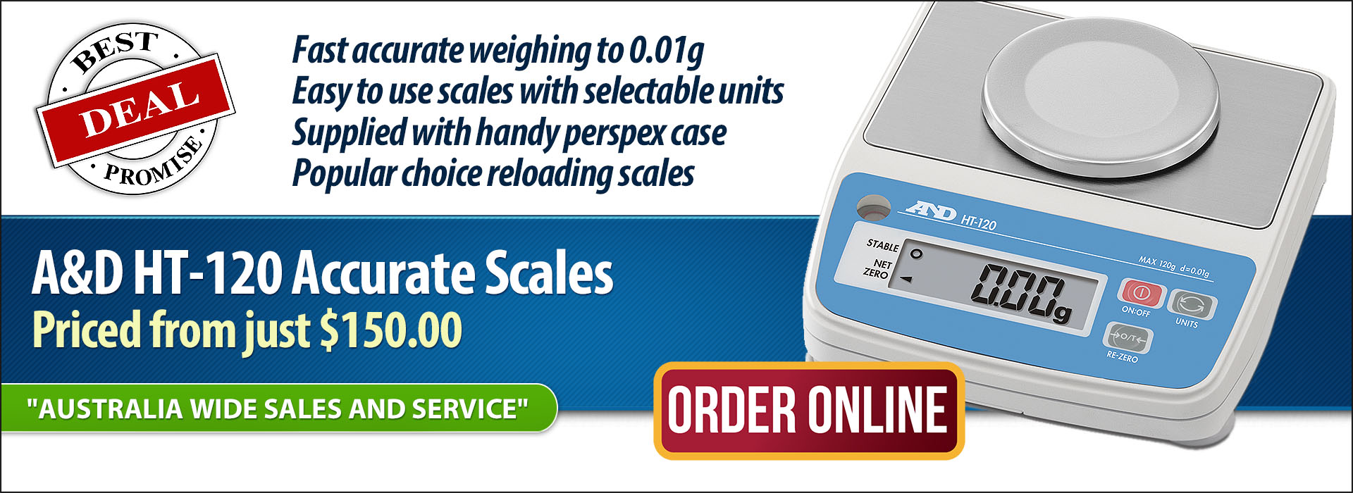 A&D HT 0.01g scales on sale