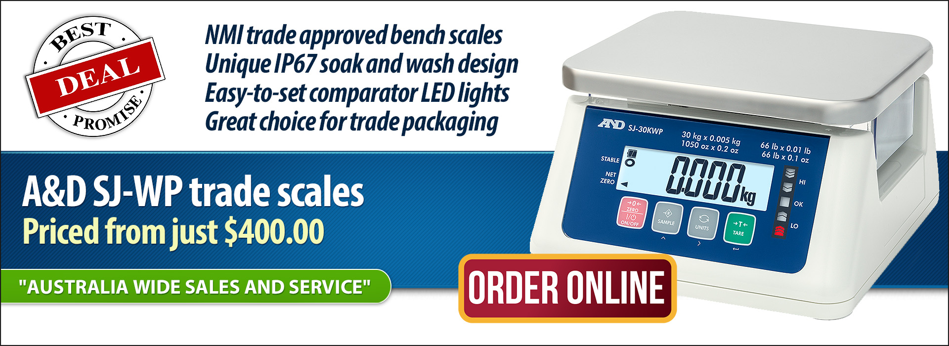 A&D SJ-WP Food Scales Sale