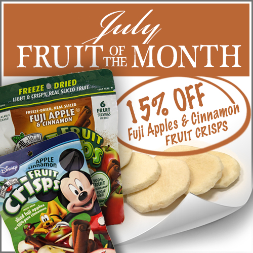 July Fruit of the Month Apple Cinnamon Fruit Crisps