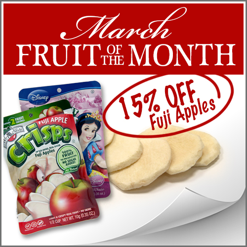 Fuji Apple Fruit Crisps on sale Fruit of the month