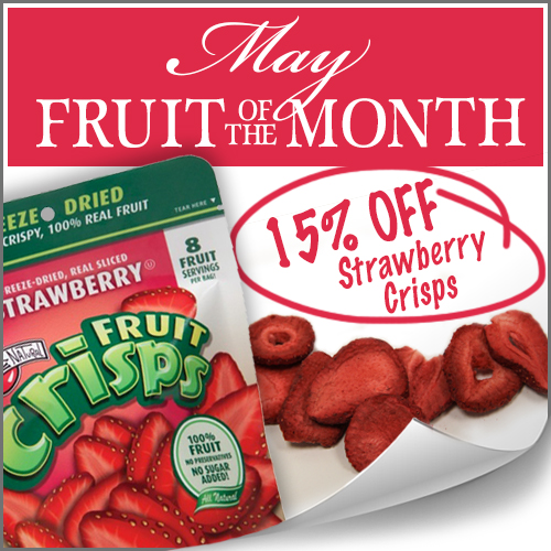 Strawberry Fruit Crisps on sale Fruit of the Month