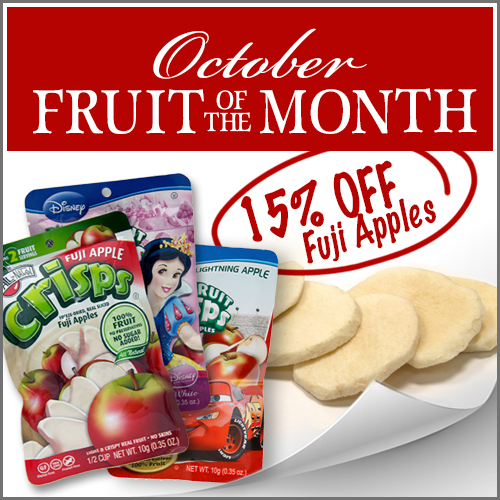 October Fruit of the Month is Fuji Apple Fruit Crisps