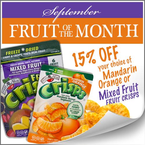 September Fruit of the Month Mixed Fruit & Mandarin Orange Fruit Crisps