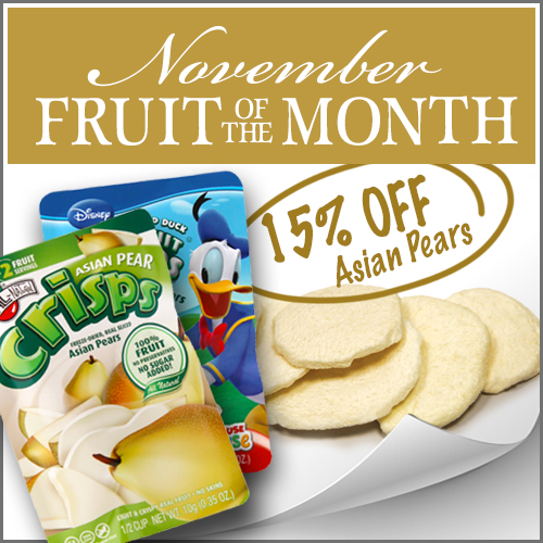 November Fruit of the Month is Asian Pear Fruit Crisps