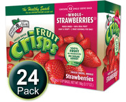 Strawberry Fruit Crisps, 1/2 c bags (Whole) - 24-Pack