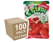 Brothers-All-Natural Strawberry Fruit Crisps, 1/2 c bags (Whole) , 100-Pack