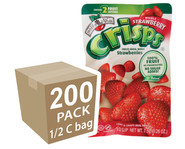 Brothers-All-Natural Strawberry Fruit Crisps, 1/2 c bags (Whole) - 200-Pack