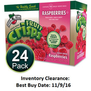 Brothers-All-Natural Raspberry Fruit Crisps, 1/2 c bags, 24-pack
