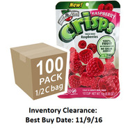 Raspberry freeze dried fruit crisps, 100 pack