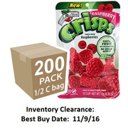 Freeze Dried Raspberry Fruit Crisps, 200 pack