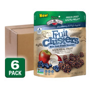 Freeze Dried Blueberry Apple Fruit Clusters, 6-Pack