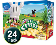 Brothers-All-Natural Clubhouse Pineapple Fruit Crisps, 1/2 c bags, 24-pack