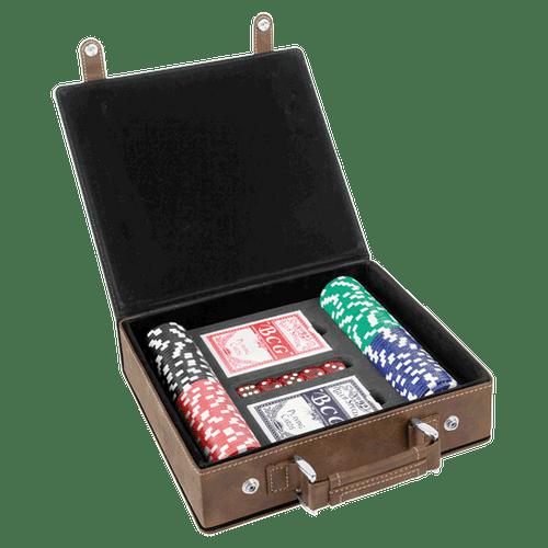 Leatherette Poker Set