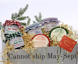 Vermont Gift Basket with Homemade Jams and VT Cheeses  |  Sidehill Farm
