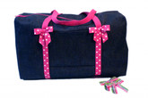 Denim Ribbon Duffel