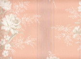 this is a truly PINK paper with a satin stripe and bouquets of roses