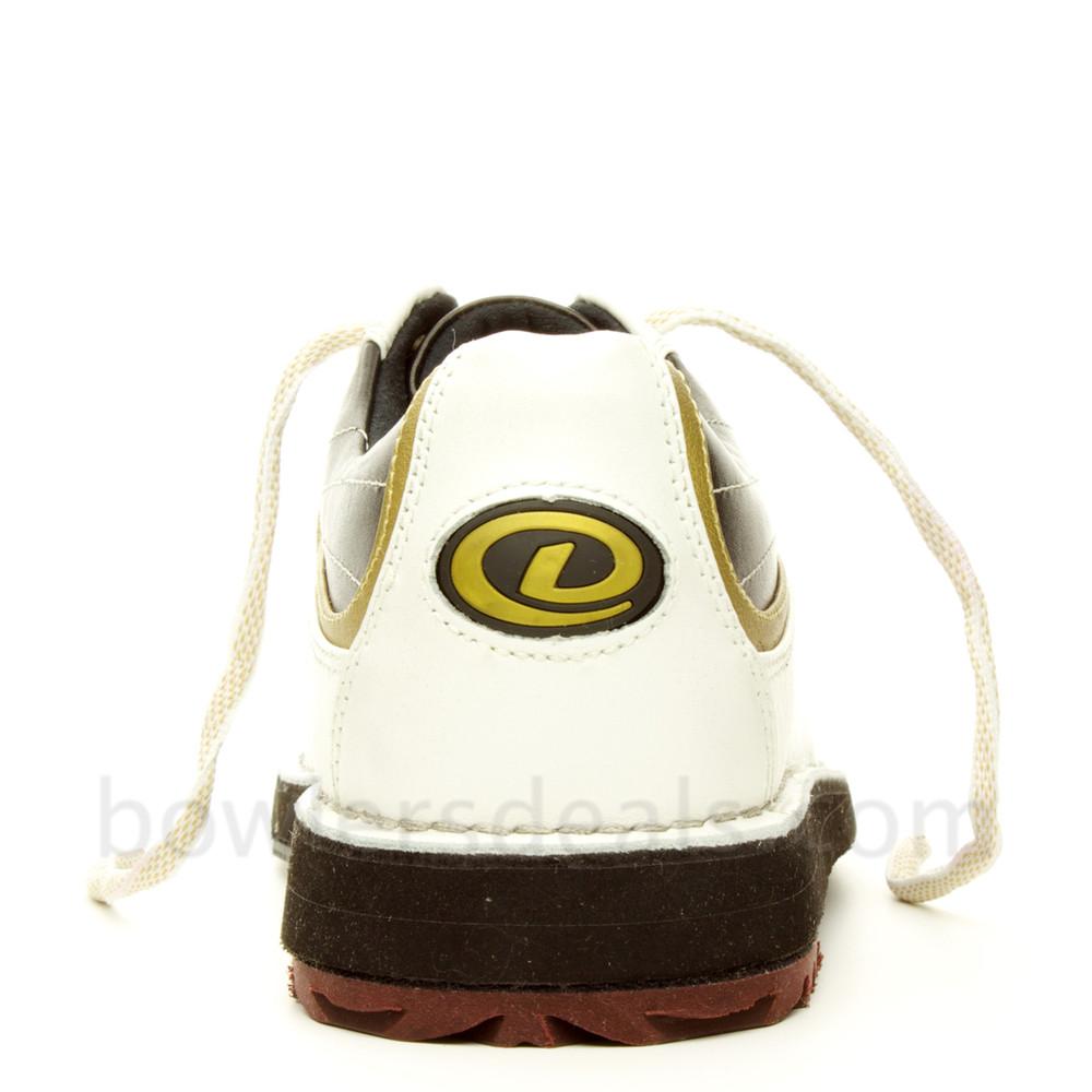 Dexter SST 8 Mens Bowling Shoes White/Black/Gold rear view