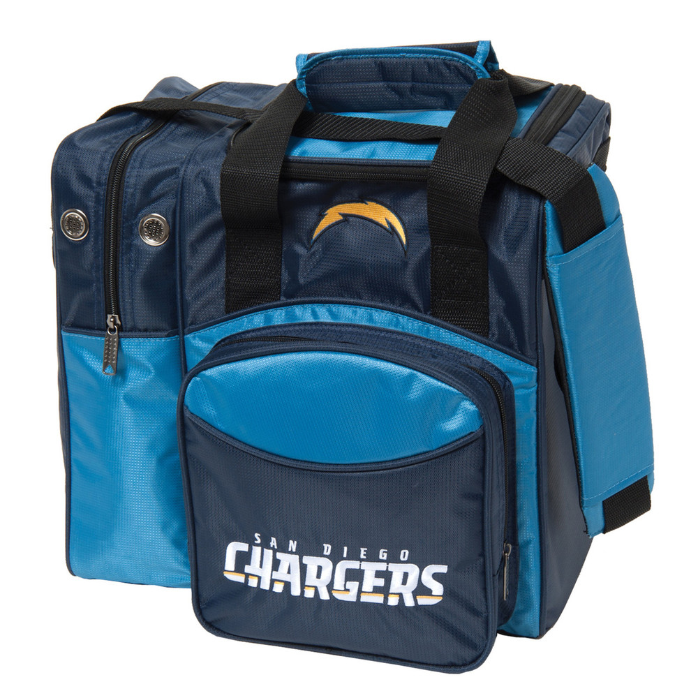 San Diego Chargers Bowling Ball: NFL Single Tote Bowling Bag By KR FREE Shipping No Hidden