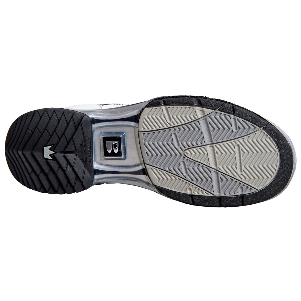 Brunswick TPU X Mens Bowling Shoes White Black Right Hand heel sole view