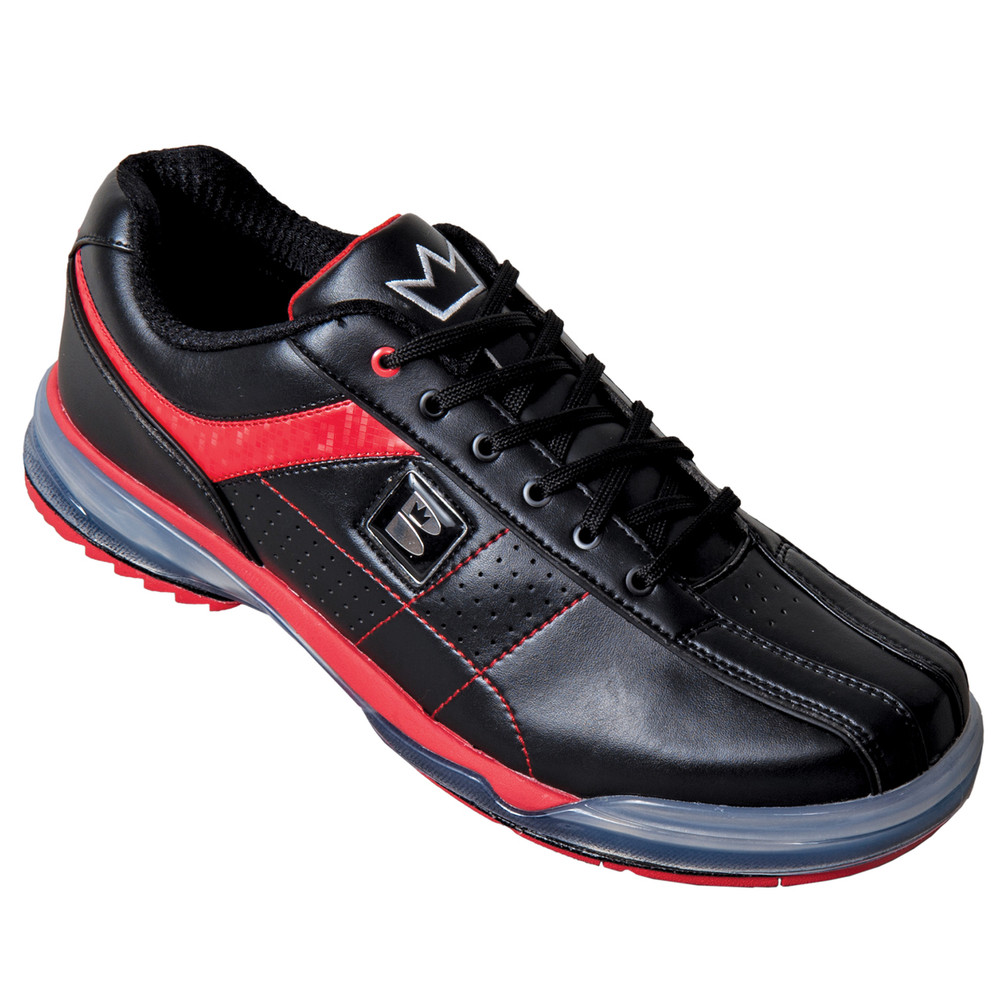 Brunswick TPU X Mens Bowling Shoes Black Red Right Hand angle view