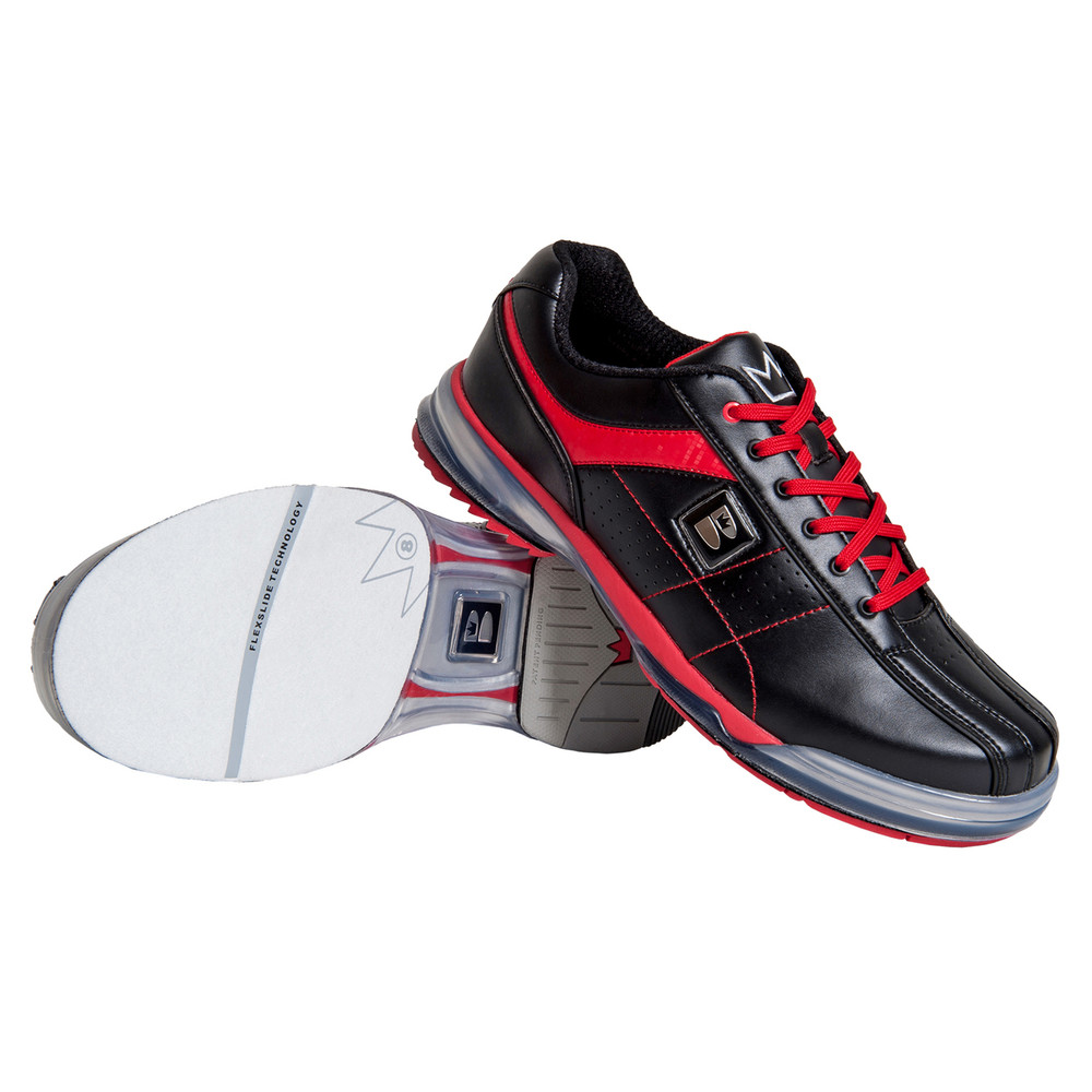 Brunswick TPU X Mens Bowling Shoes Black Red Right Hand
