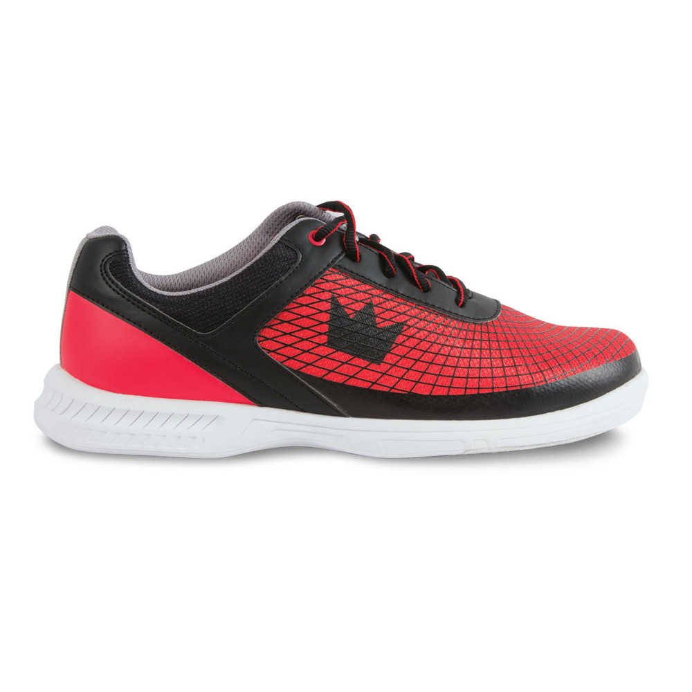 Brunswick Frenzy Men's Bowling Shoes Black Red