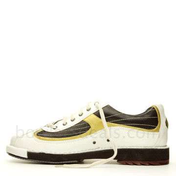 Dexter SST 8 Mens Bowling Shoes White/Black/Gold  side view alternate