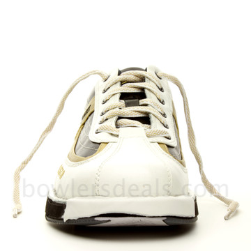 Dexter SST 8 Mens Bowling Shoes White/Black/Gold front view
