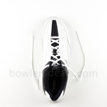 Dexter Ricky III Mens Bowling Shoes White/Black Wide Width