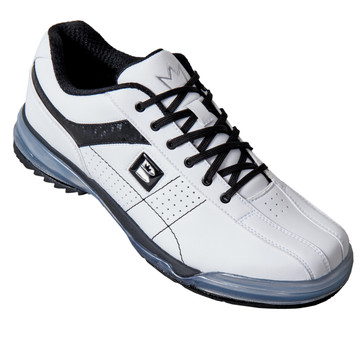 Brunswick TPU X Mens Bowling Shoes White Black Right Hand angle view