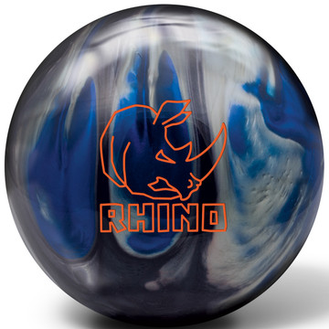 Brunswick Rhino Black Blue Silver Bowling Ball