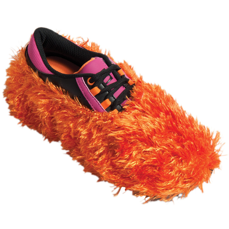 Brunswick Fun Shoe Cover Fuzzy Orange