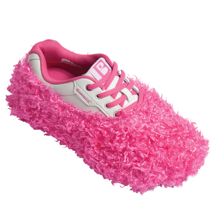 Brunswick Fun Shoe Cover Fuzzy Pink