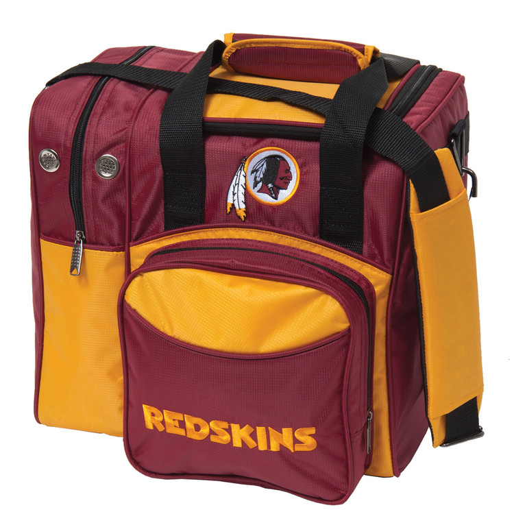 NFL 1 Ball Single Tote Bowling Bag Washington Redskins