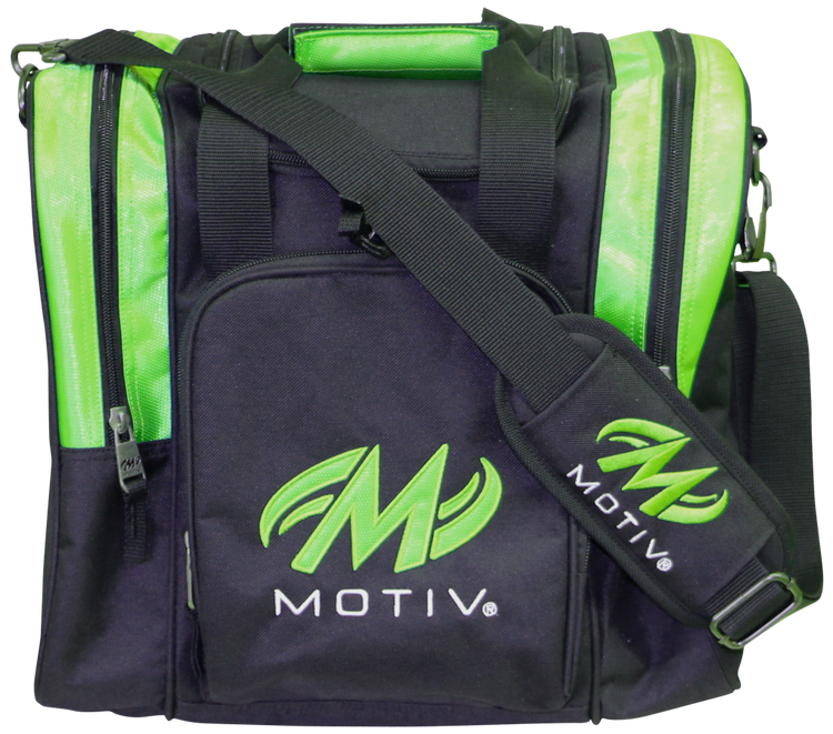 Motiv 1 Ball Ascent Single Tote Bowling Bag Black Green