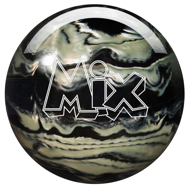 Storm Mix Pearl Bowling Ball Black White