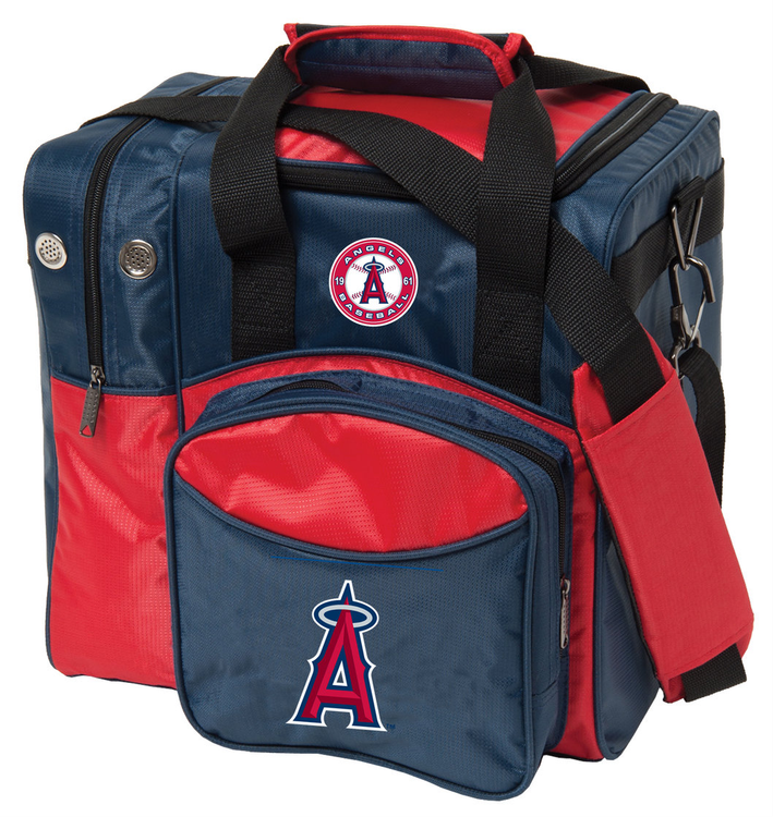 MLB 1 Ball Single Tote Bowling Bag LA Angels