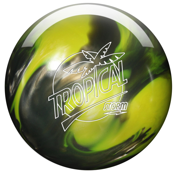 Storm Tropical Storm Yellow Silver Bowling Ball