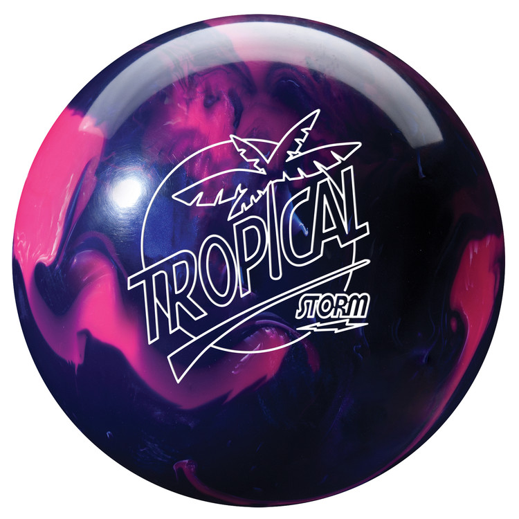 Storm Tropical Storm Pink Purple Bowling Ball