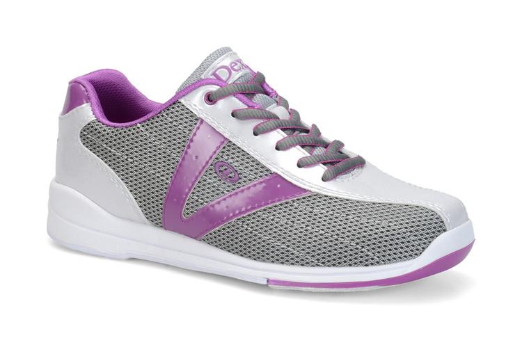 Dexter Vicky Women's Bowling Shoes Silver Purple  side view