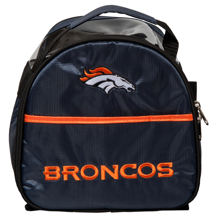 NFL Add On 1 Ball Single Tote Bowling Bag Denver Broncos