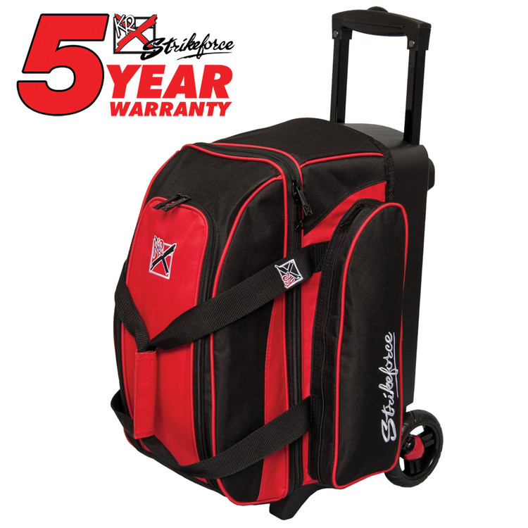 KR Kolors 2 Ball Double Roller Bowling Bag Red