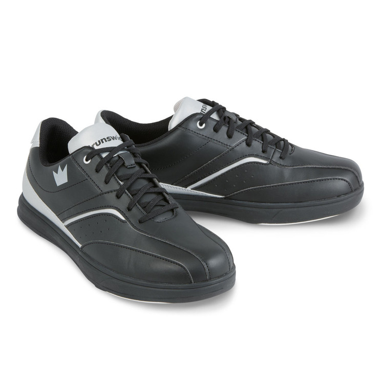 Brunswick Vapor Men's Bowling Shoes Black Silver